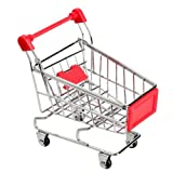 Globeagle Mini Supermarkt Bollerwagen Shopping Utility Cart Modus Storage Toy Rot NEU