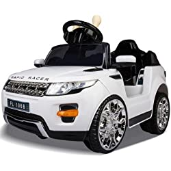 Sabway Coche eléctrico para niño Land Rover - Bateria 6V - Doble Motor 15W - 6KG - Incluye mando a distancia 2.4 Ghz - Entrada MÚsica con MP3, USB, tarjeta SD