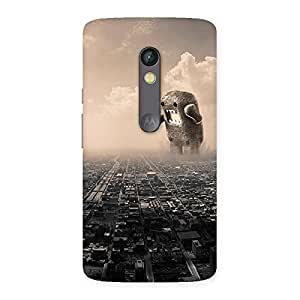 Delighted Destroy City Back Case Cover for Moto X Play