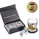 Exclusivo Whisky Piedras Set de Regalo de Acero Inoxidable - Alta Tecnología de Refrigeración -...