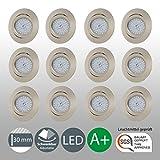 LED Einbaustrahler Schwenkbar Ultra Flach Inkl. 12 x 5W LED Modul 230V IP23 LED Deckenstrahler Einbauleuchte Deckeneinbaustrahler Einbauspot Spot Einbaustrahler