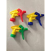 Omdee Trading Plastic Water Spray Nozzle Trigger for Bottle - Set of 3