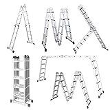 LARS360 5.5M Leiter Mehrzweckleiter Klappleiter Gelenkleiter