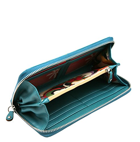 MENKAI portfolio signora cerniera intorno cluth 770W1 applique design rana 770W1 Peacock Blue