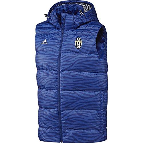 adidas Juve Daunen Weste-Weste der Line Juventus für Herren, Farbe Blau/Weiß, Größe S Azul/Blanco (Azuint/Blanco) - A-line Weste