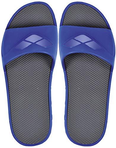 Arena watergrip m, ciabatte piscina unisex – adulto, blue/dark grey, 42