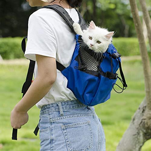 Hund Rucksack, Dog Bag Carrier Haustier für Große Mittel Kleine Hunde Atmungsaktive Reise Hundebeutel für Reiten Wandern Schwarze XL -