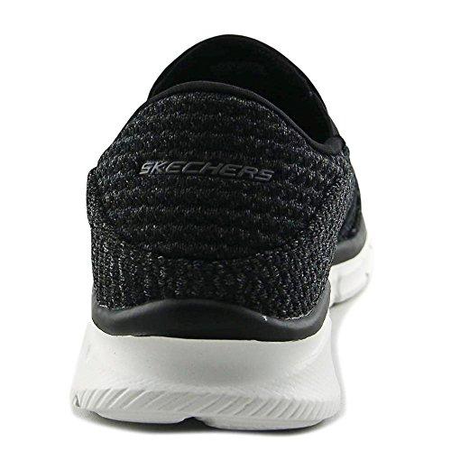 Skechers Equalizer - Slickster Hommes Synthétique Chaussure de Marche Black-White