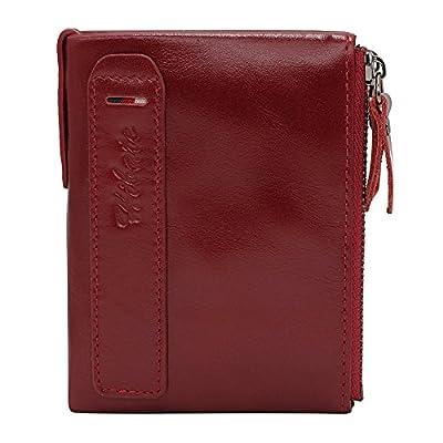 Hibate Men Leather Wallet RFID Blocking Men's Wallets Credit Card Holder Coin Pocket Purse