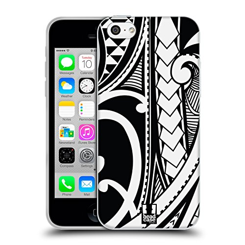 Head Case Designs Tatouage Sur Le Visage Tatouage Samoan Étui Coque en Gel molle pour Apple iPhone 6 / 6s Tourbillon Orné