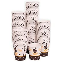 MGGI Trading Vasos de Papel de Calidad para Bebidas frías o Calientes 4oz Espresso