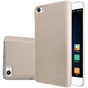 Nillkin Super Frosted Back Cover Case for Xiaomi Mi5 Mi 5 With Screen Protector - Gold