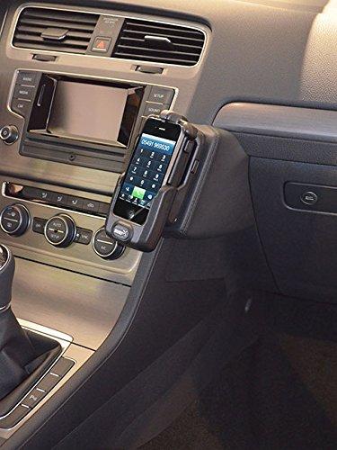 KUDA 096830 Halterung Echtleder schwarz für VW Golf VII ab 11/2012