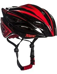 AWE® AWEBlade™ REMPLACEMENT DE CRASH GRATUIT 5 ANS * Moule adulte hommes en cyclisme sur route casque 56-58cm Noir rouge