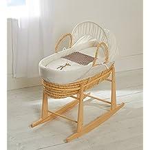 Moisés cesta con colchón cubierta edredón Capucha Vestidor & Balancín Soporte jirafa Guingán palm