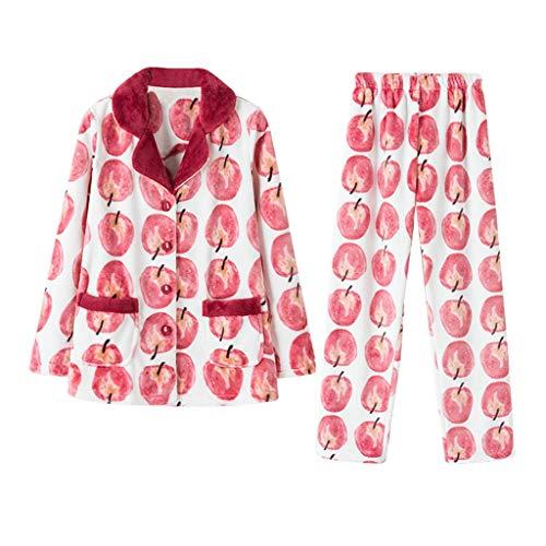 Camicie da notte pigiama da donna inverno colore nightwear corallo velluto set di ispessimento di grandi dimensioni sciolto homedressing a due pezzi pigiami due pezzi