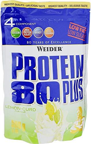 WEIDER Protein 80 Plus Eiweißpulver, 2 Pack, Zitrone-Quark Low-Carb, Mehrkomponenten Casein Whey Mix für Proteinshakes,