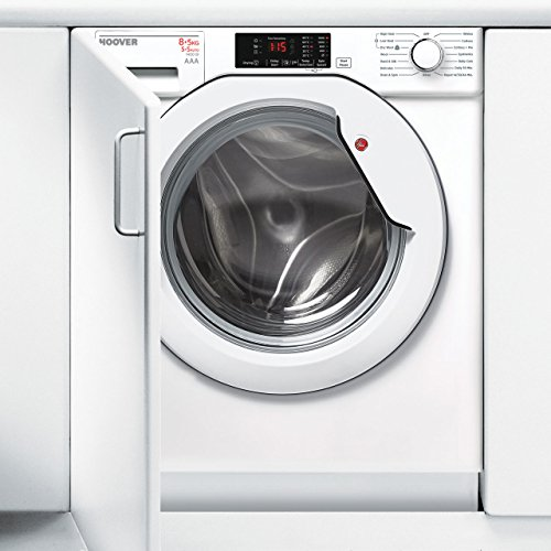 Hoover HBWD8514DC Built-In Washer Dryer in White