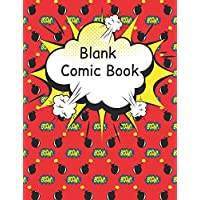Blank Comic Book: Large pages for kids with a variety of templates. Draw your own comics and create amazing stories. Cartoon sketch book birthday gift idea,