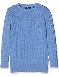 Gant TB. Cotton Cable Crew, suéter para Niños