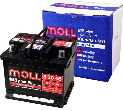 Moll M3 Plus K2 Doppeldeckel 83046 46Ah (420A Kälteprüfstrom) 420a Batterie