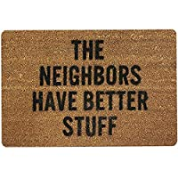 QZUnique Non-slip Doormat Indoor Outdoor Kitchen Floor Rug Coral Fleece Front Door Mat Funny Flannel Carpet 40 X 60 cm