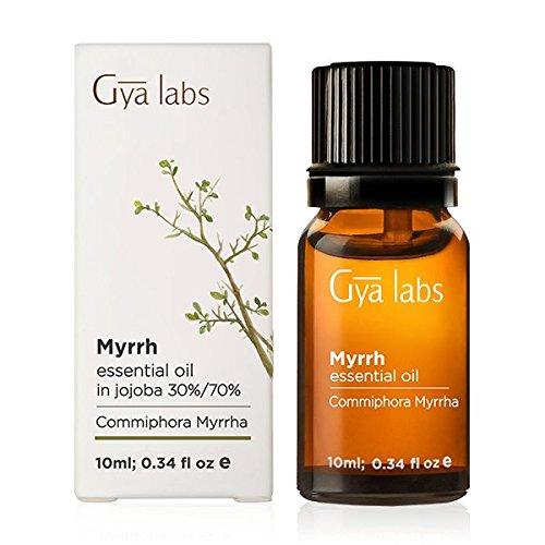Myrrhe ätherisches Öl in Jojoba 30% / 70% für Aromatherapie Diffusor, Gesundheit Haut und Entspannung - 10ml - Gya Labs