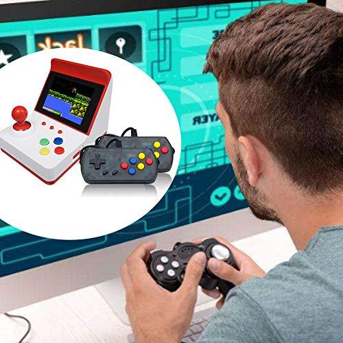 szdc88 Handheld-Spielekonsole,Retro-Mini-Game-Player mit 360 klassischen FC-Spielen 3-Zoll-Farbdisplay-Unterstützung für den Anschluss von 600-mAh-TV-Akkus für Kinder und Erwachsene