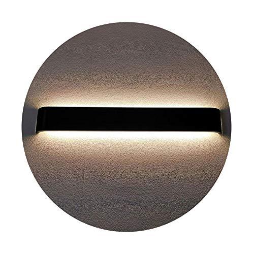 K-Bright Spiegellampe 20W,LED Spiegelleuchte,IP44,Aluminium Badleuchte Abstrahlwinkel 120°,Warmweiß,Schwarz