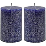 [Sponsored]Maxime Candles Decorative Blue And Silver Candles Set Of 2   Candles For Decoration   Candles For Home Décor   Centerpieces For Dining Room   Candles For Gifting