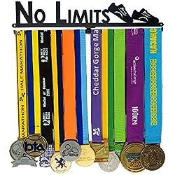 jin No Limits - Barres de médailles inspirantes, Gymnastique, Natation, Course à Pied avec cintres Sportifs pour Hommes, Femmes, garçons et Filles.