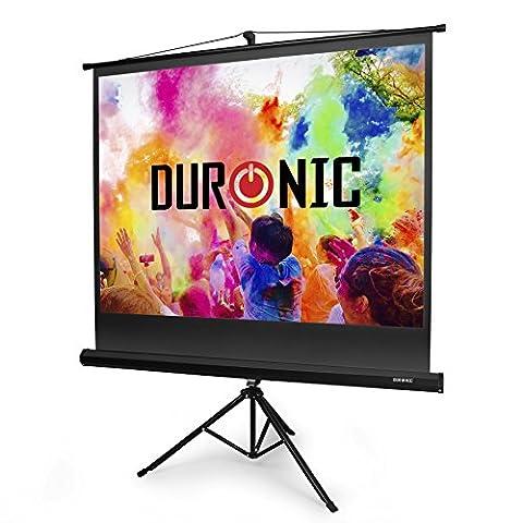 Duronic TPS86/43 (Black) Projector Screen For   School   Theatre   Cinema   Home   Tripod Projector Screen - 86