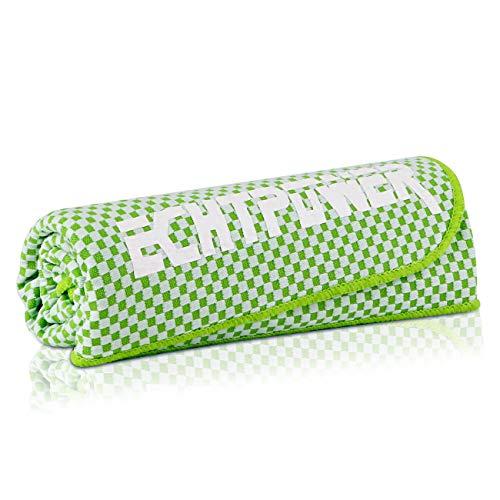 ECHTPower Kühlhandtuch, 120x30cm Kühlendes Handtuch Kühltuch für sofortige Cool-Einsatz als Schal Haarband Armband aus Cool Bambus Faser für Yoga Reise Climb Golf Outdoor Sports Tier, grün - Sport-kühlschrank