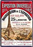 plaque metal 40x30 cm affiche exposition universelle paris 1889