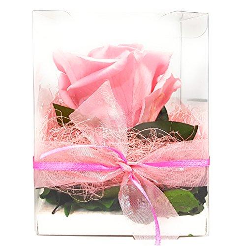 Rosen-te-amo Flower-box - Geschenk aus ECHTE Rose in der Box, 3 Jahre lang haltbar OHNE WASSER perfektes Geschenk für den Muttertag
