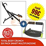 FFitness OFFERTA TOTAL POWWER BODY CRUNCH T-CRUNCH DISPLAY COMPUTERINO + SIX...