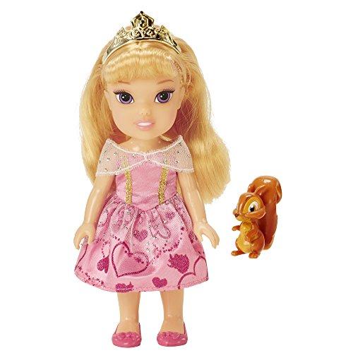 Disney Princess 98958-EU Aurora Kleine Prinzessin Puppe, 15 cm (Aurora Princess Krone Disney)
