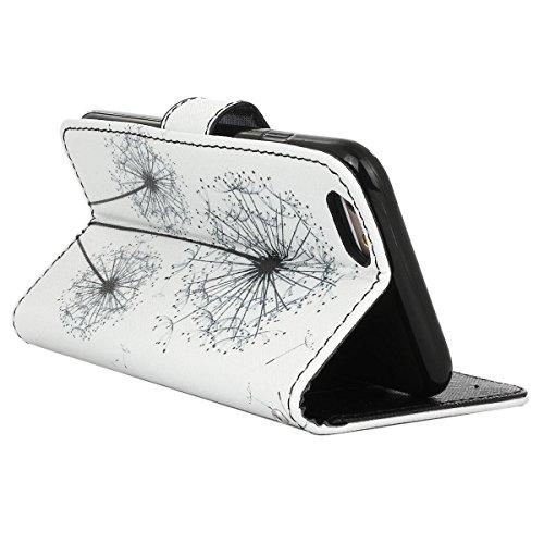 Gift_Source iPhone 6 hülle, iPhone 6S hülle, Brieftasche Ledertasche Bookstyle Schutzhülle Leder Flip case Etui for Apple iPhone 6S/6 4.7 inch [ Blaue und gelbe Sand ] E01-01-Dandelion