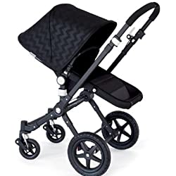 Bugaboo Bee³ Sun Canopy Shiny Chevron Black Intense Extendable by Bugaboo