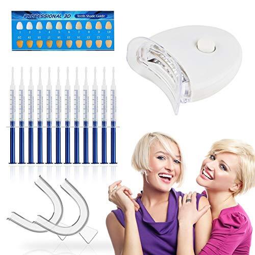 Teeth Whitening Kit FAMINESS Zahnaufhellung Set für Weisse Zähne - Professionelle Zahn Whitening Kit Bleaching Zähne 12x3ml Teeth Whitening Gel【Deutsche Verpackung】