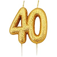 Gold Number Candle - 40