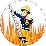 Tortenaufleger Feuerwehrmann Sam4 / 20 cm Ø