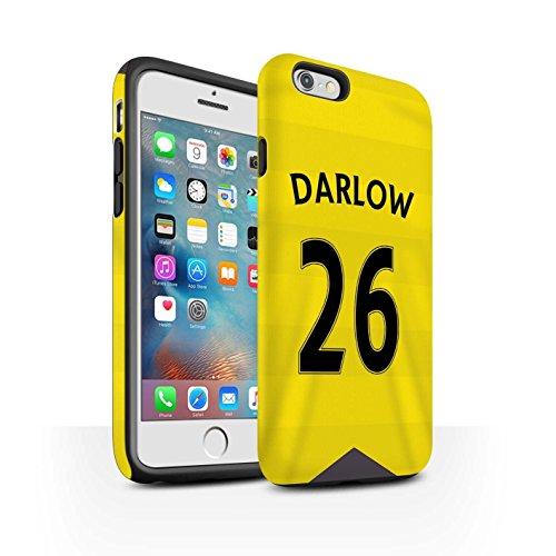 Offiziell Newcastle United FC Hülle / Matte Harten Stoßfest Case für Apple iPhone 6S+/Plus / Coloccini Muster / NUFC Trikot Home 15/16 Kollektion Darlow
