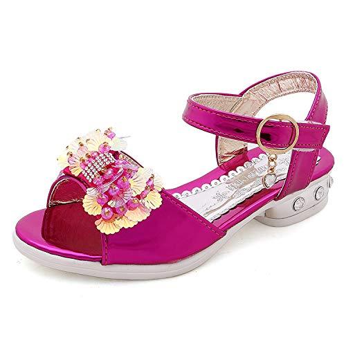 YOSICIL Sandali Bambine e Ragazze Sandali Bambina Scarpe Bridal Partito Pelle Bambine Eleganti Calzature