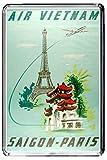 F109 SAIGON PARIS AIMANT POUR LE FRIGO VIETNAM FRANCE VINTAGE TRAVEL PHOTO REFRIGERATOR MAGNET