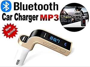 GKP Products ® Bluetooth Car Chargr FM Transmitter With USB Flash Drives /TF Music Player Bluetooth Car kit USB Car CHG.