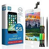 MMOBIEL LCD Display Touch Screen Digitizer Ersatz für iPhone 5S (Weiß) Professionelles Reparatur Set mit einfacher Anleitung