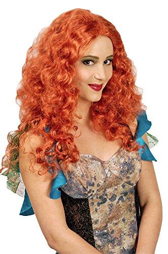 Langhaar Locken Perücke Milva - Irischrot - Wunderschöne Damenperücke in feurigen Rot zu Meerjungfrau, Fee oder Irischer Prinzessin Kostüm - Karneval, Mottoparty oder Halloween