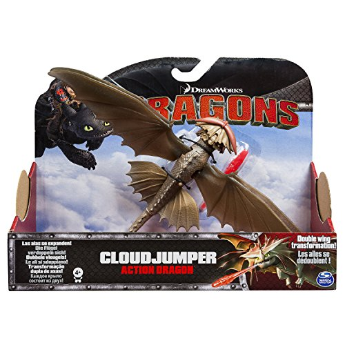 Spin Master 6028980 - Action figure Drago Saltanuvole, dal film di animazione DreamWorks Dragon Trainer 2