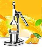 H Juicer Oranges Juicers en Acier Inoxydable Pompes Manuelles de Jus de Citron Machines à Jus de Grenade Machines à Jus de Citron à Pression Manuelle,1